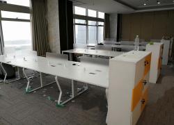 蝴蝶脚架办公桌组合长红定制