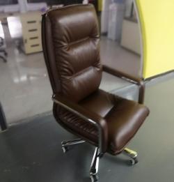 皮质大班椅棕色真皮老板椅