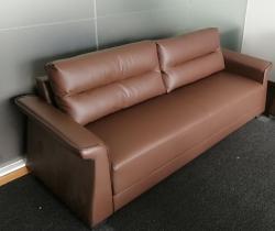 皮质办公沙发时尚棕色热卖
