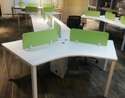 长红办公桌组合个性化绿色定制款