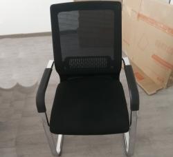 弓字型职员椅办公椅黑色承重力强