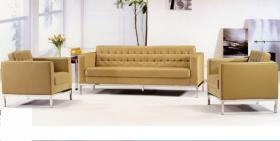 咖啡色时尚办公沙发现代简约