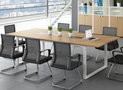 枫木色板式会议桌间极致简约