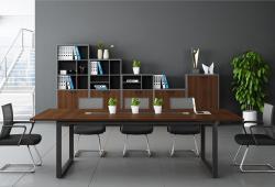黑胡桃板式会议桌精致耐用
