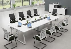 白色极致简约板式会议桌时尚优雅