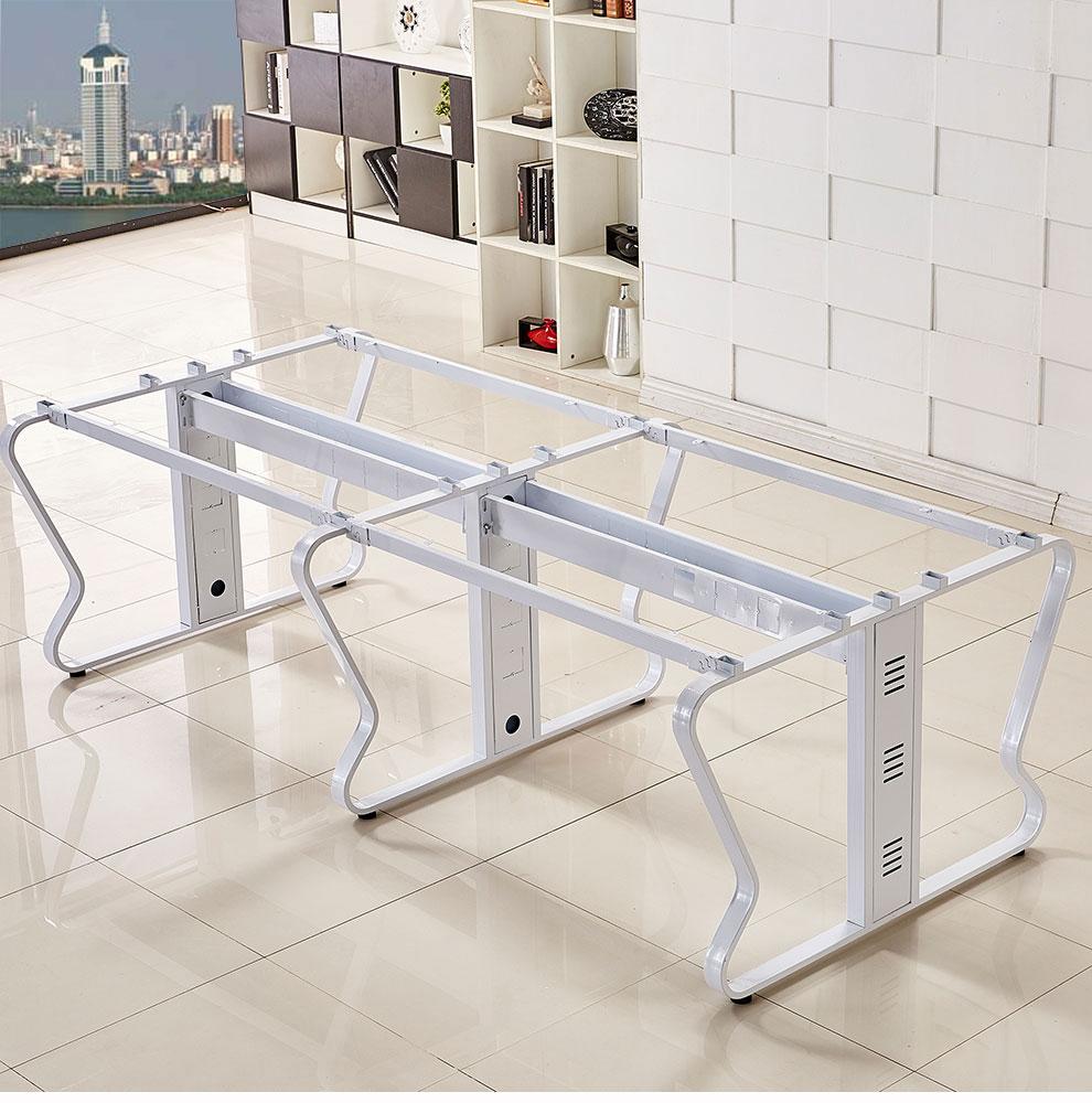 屏风办公桌蝴蝶钢架结构展示